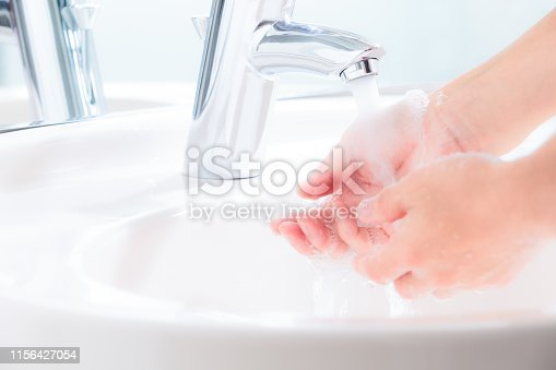 Wash your hands in the bathroom