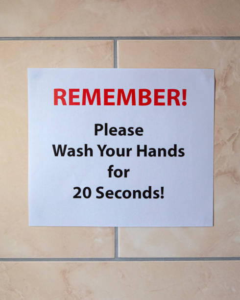 Wash Your Hands Sign stock photo
