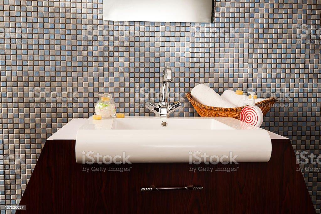 washbasin in a modern bathroom royalty-free stock photo