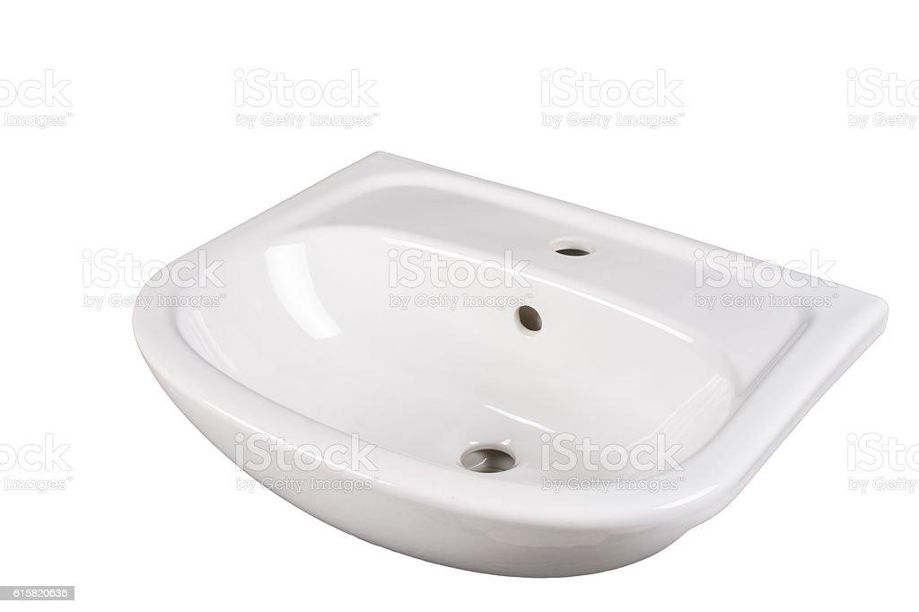Washbasin isolated on white stock photo