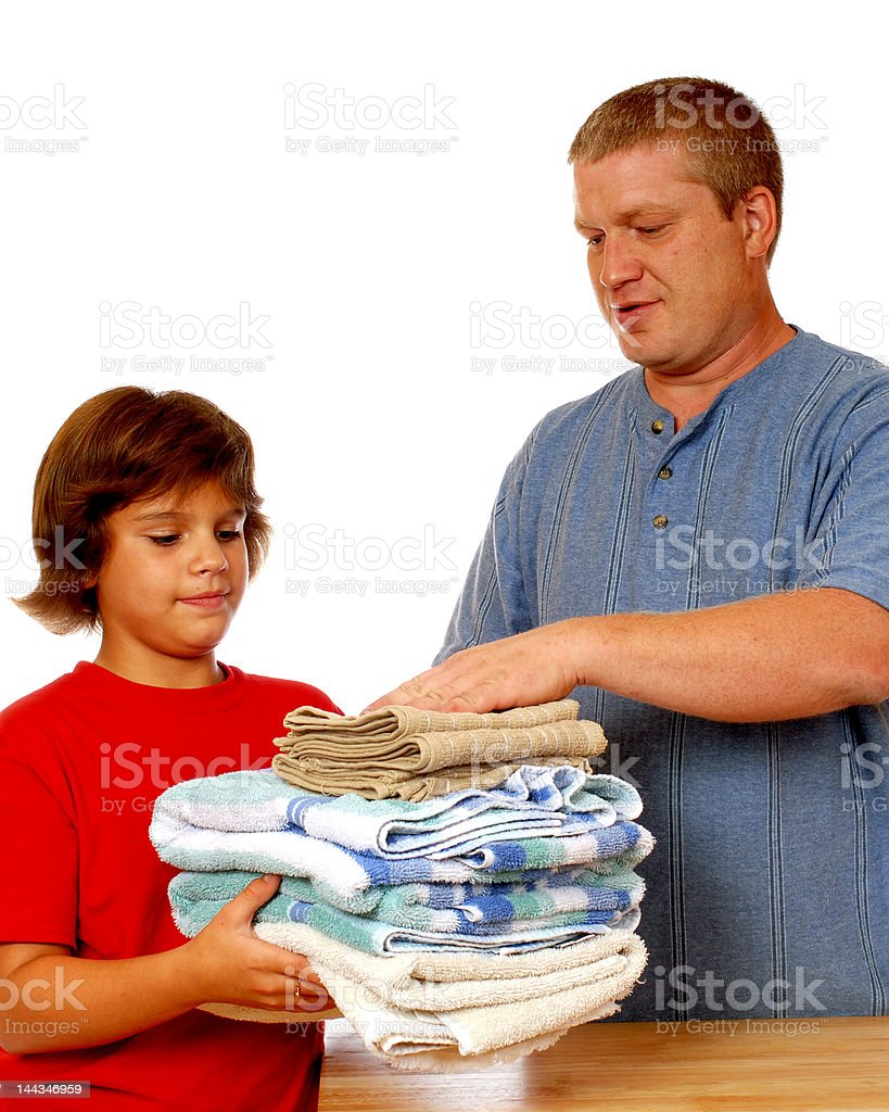 Washday Workers royalty-free stock photo