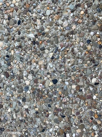 Washed aggregate .    iPhone