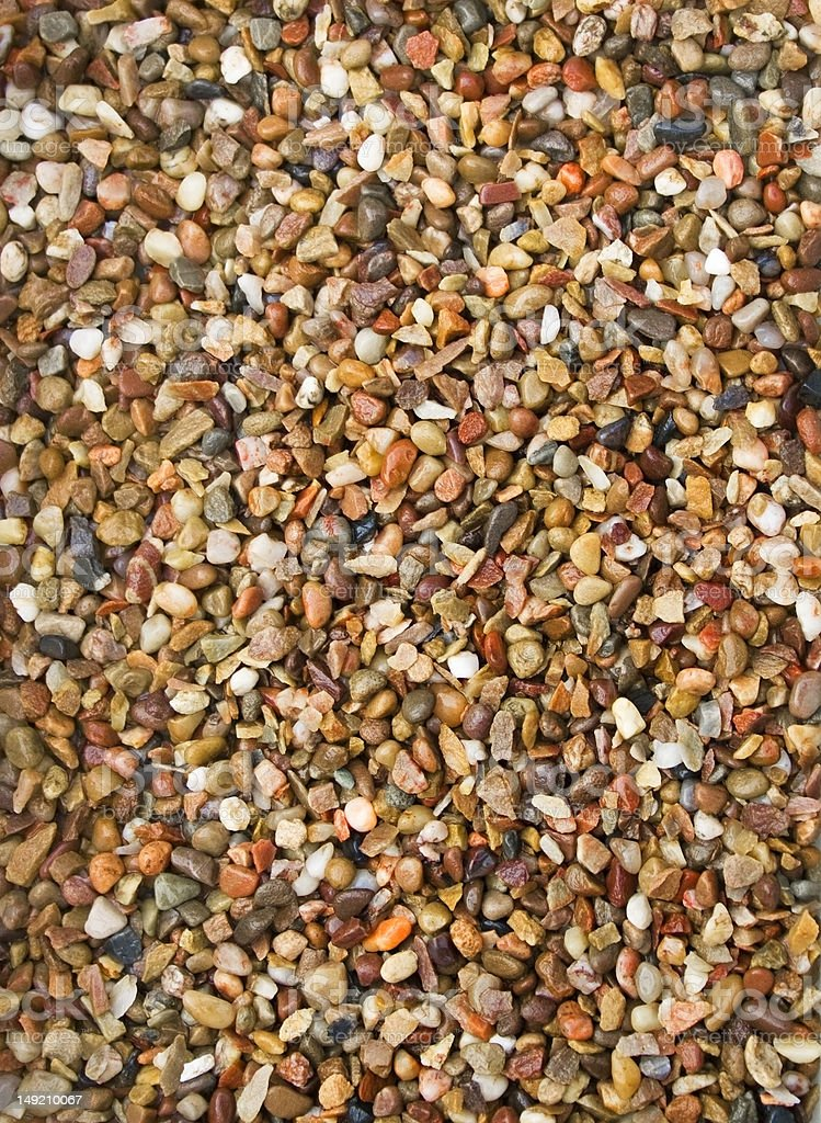 Washed aggregate stock photo