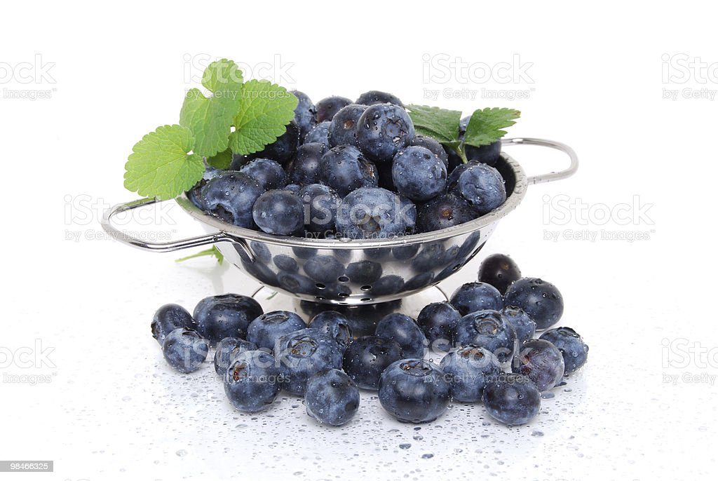 Washed Blueberries royalty-free stock photo