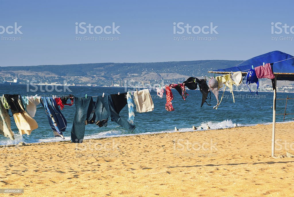 Washed clothes royalty-free stock photo