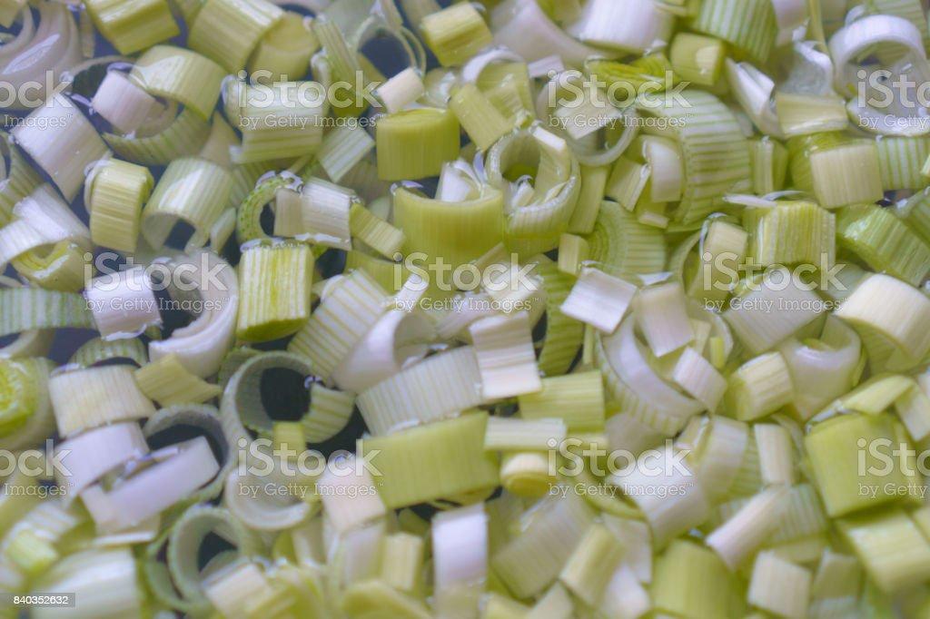 Washed Leeks stock photo