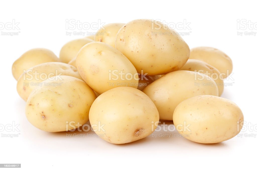 Washed Potatoes stock photo