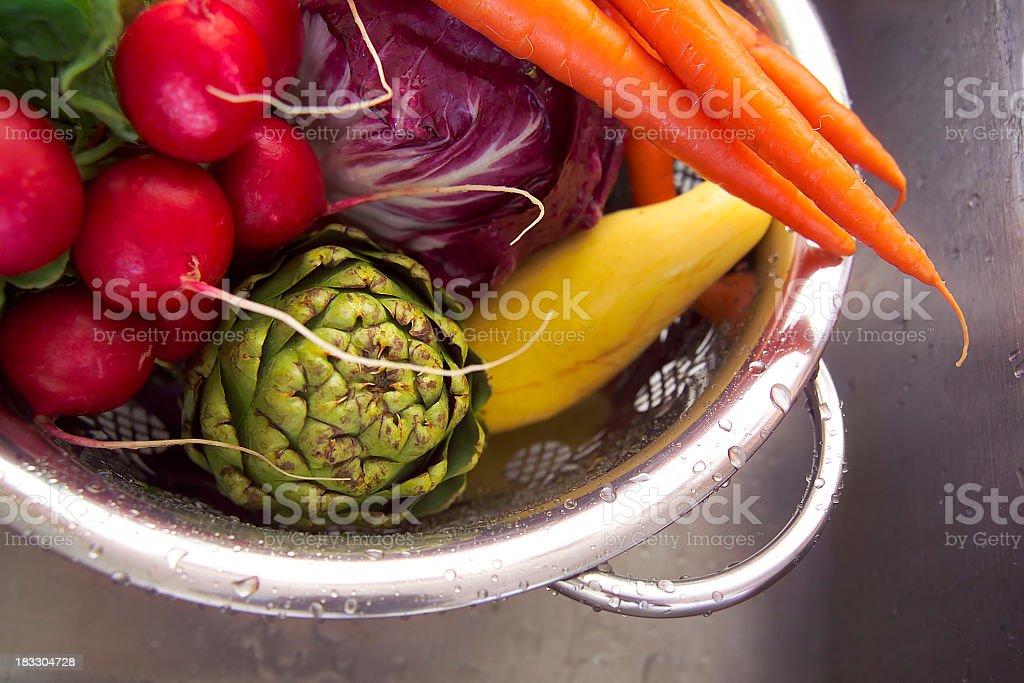washed veggies royalty-free stock photo