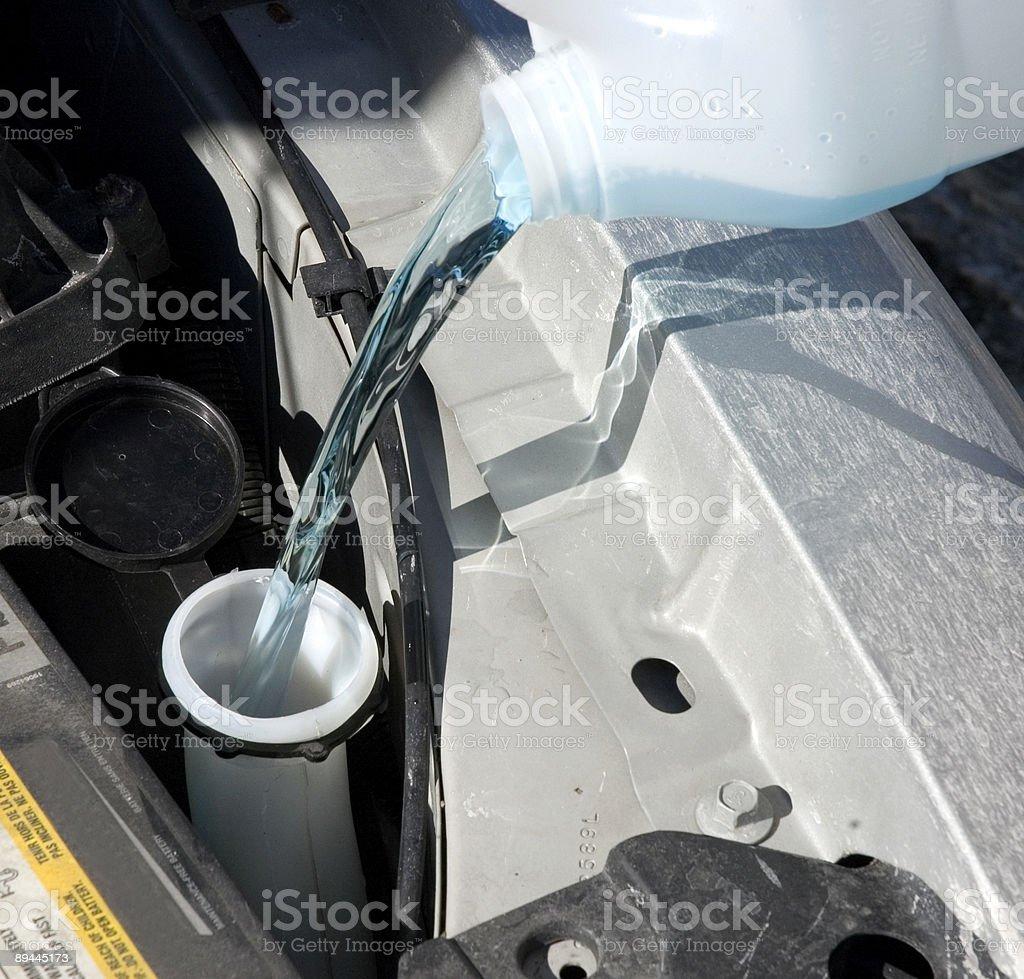 Rembourrage fluide lave-linge photo libre de droits