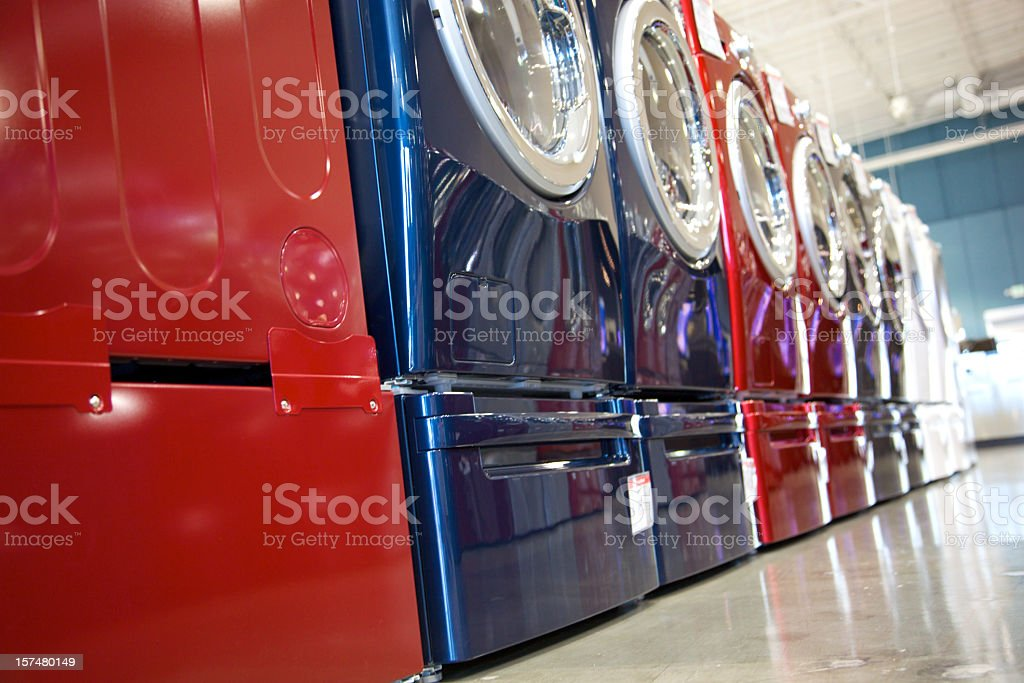 Washers and Dryers stock photo