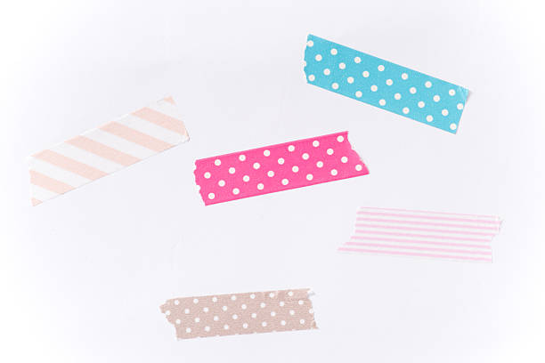 washi tape pieces - adhesive tape stock photos and pictures