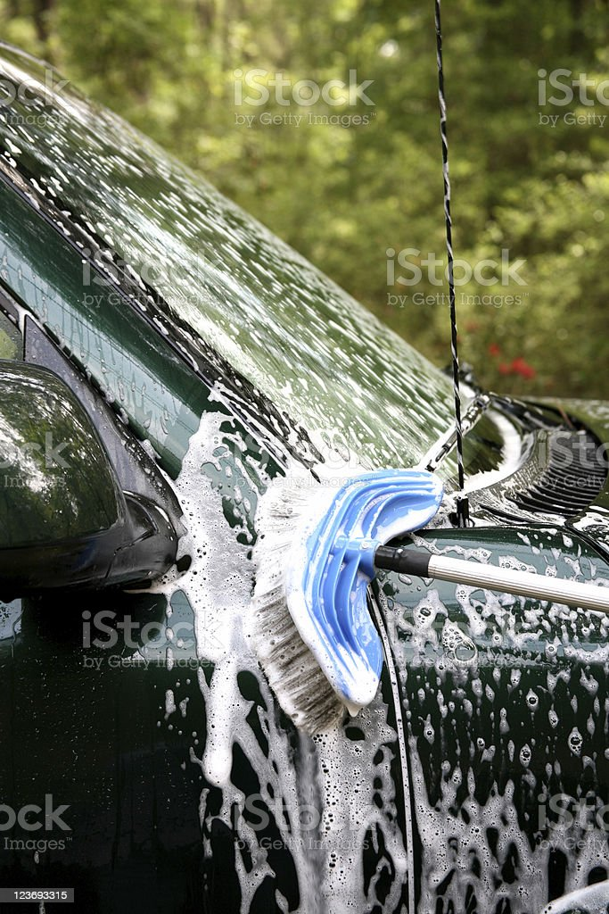 Washing a car royalty-free stock photo