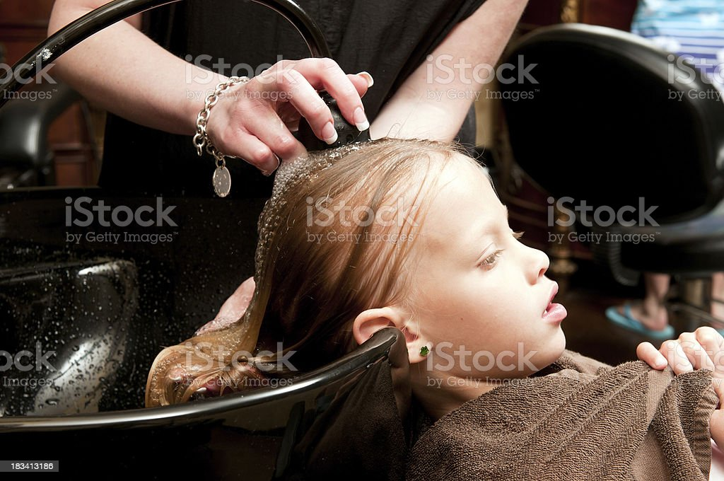 Washing Before Haircut Stock Photo More Pictures Of 6 7 Years Istock