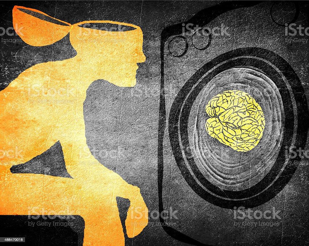 washing brain stock photo