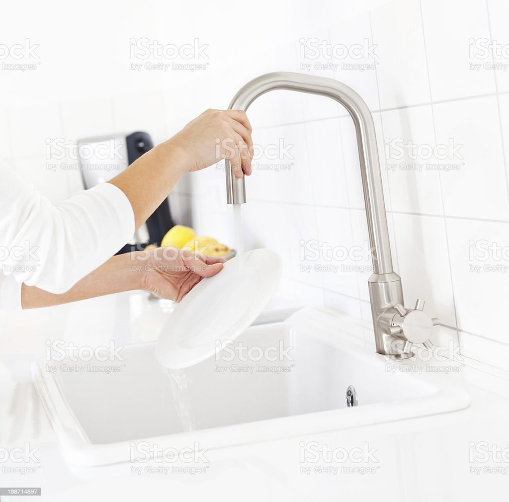 Washing Dish royalty-free stock photo