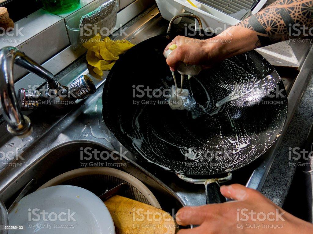 Lavando Louça - foto de acervo