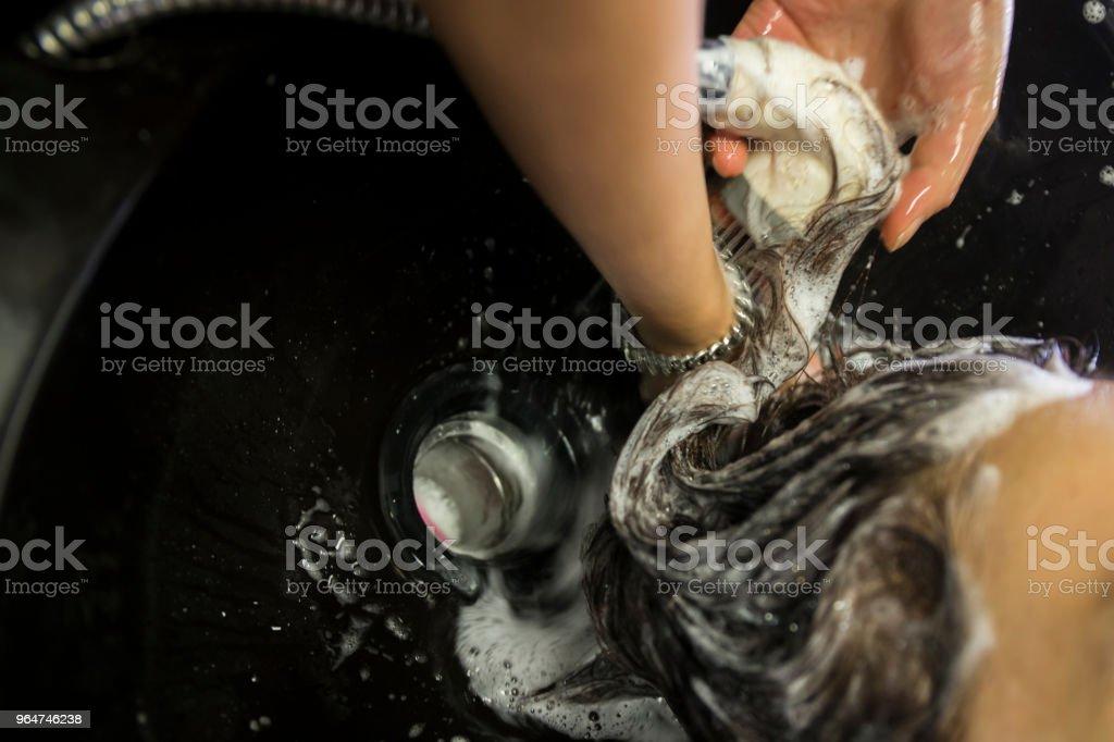 Washing Hair royalty-free stock photo