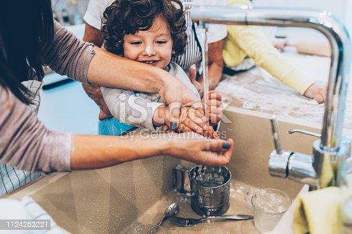 istock Washing hands 1124253221