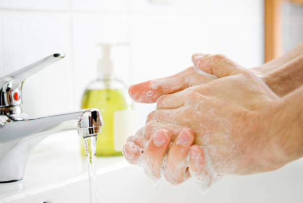 Washing Hands stock photo