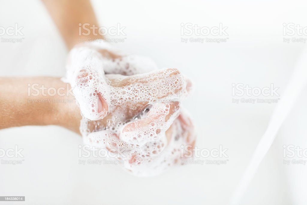 Washing Hands royalty-free stock photo