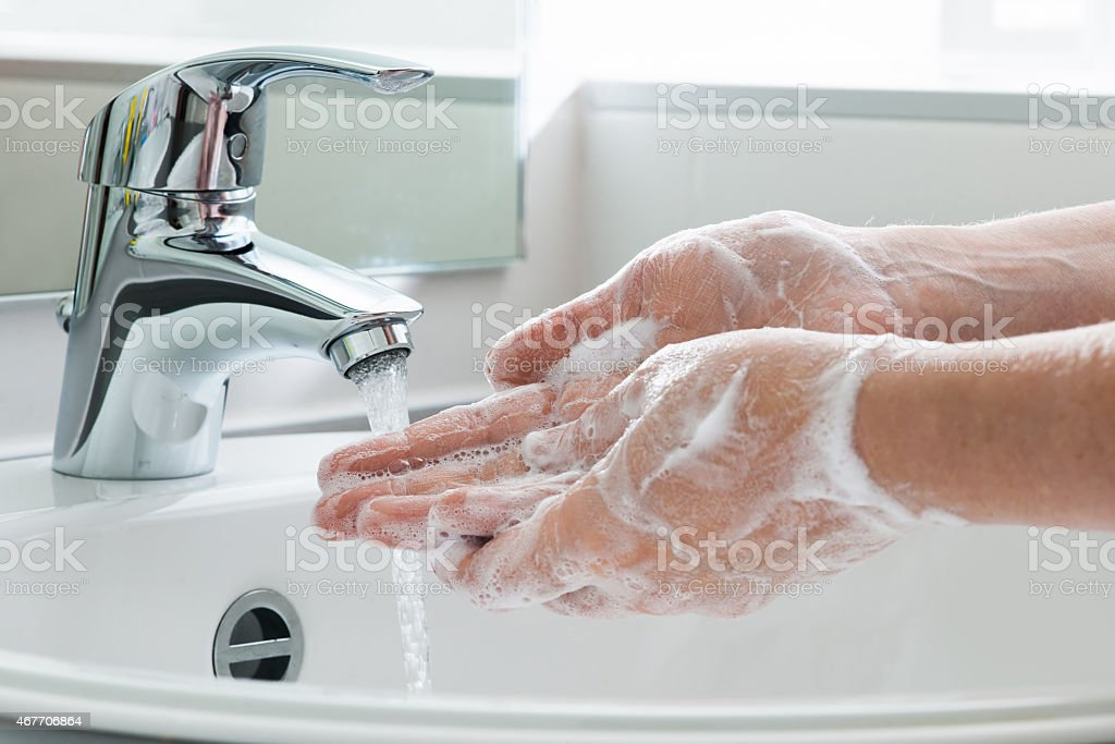 Washing hands Hygiene. Cleaning Hands. Washing hands. 2015 Stock Photo