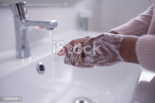 1182622704istockphoto Washing hands with soap. Hygiene and a healthy lifestyle. 1209530914