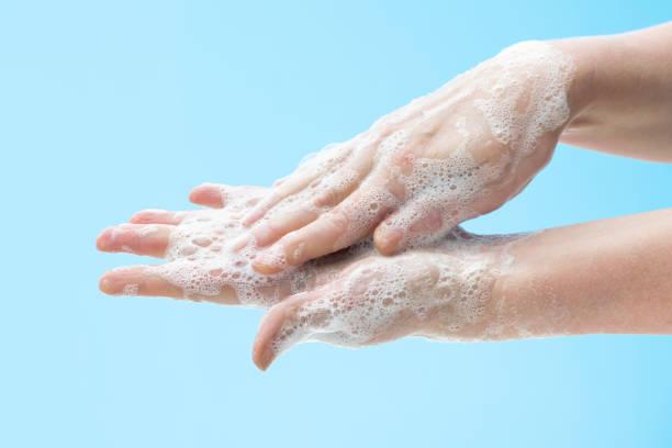 lavar as mãos com sabão - higiene - fotografias e filmes do acervo