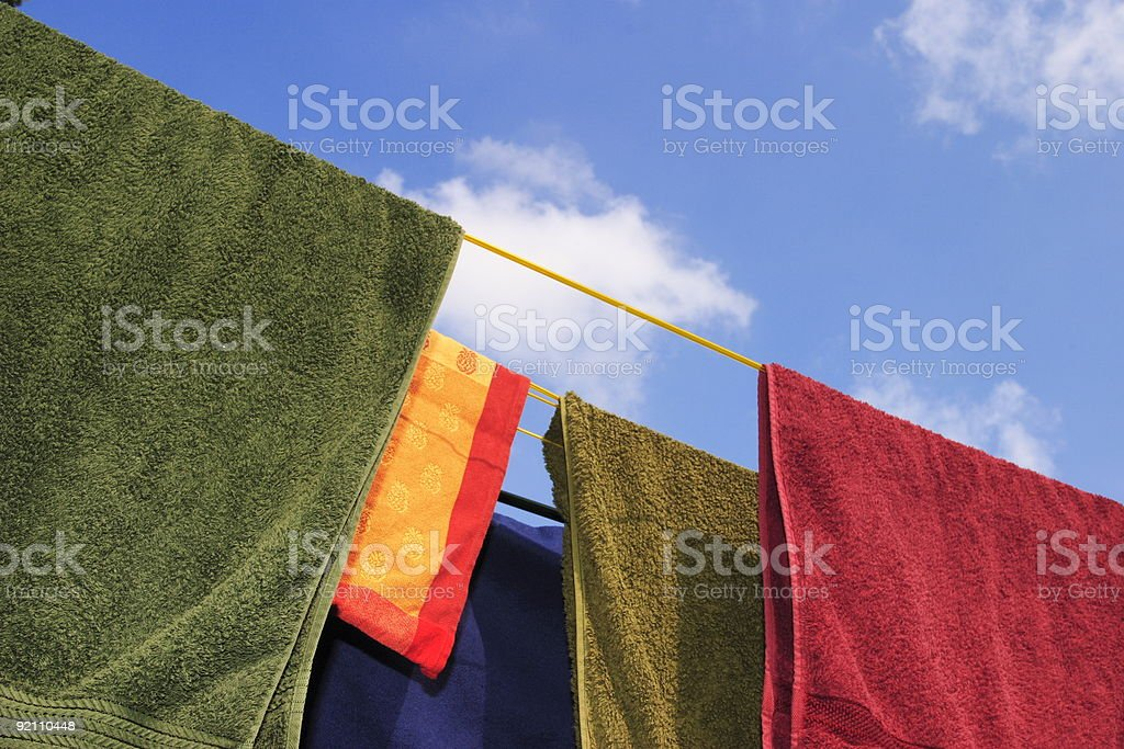 Washing line royalty-free stock photo