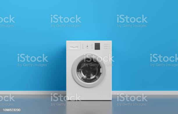 Washing machine at blue wall frontal view with copy space3d rendering picture id1096523200?b=1&k=6&m=1096523200&s=612x612&h=ci8lvus5y7hy4reuw9ztudoc0rmeopeaty29no wrbw=