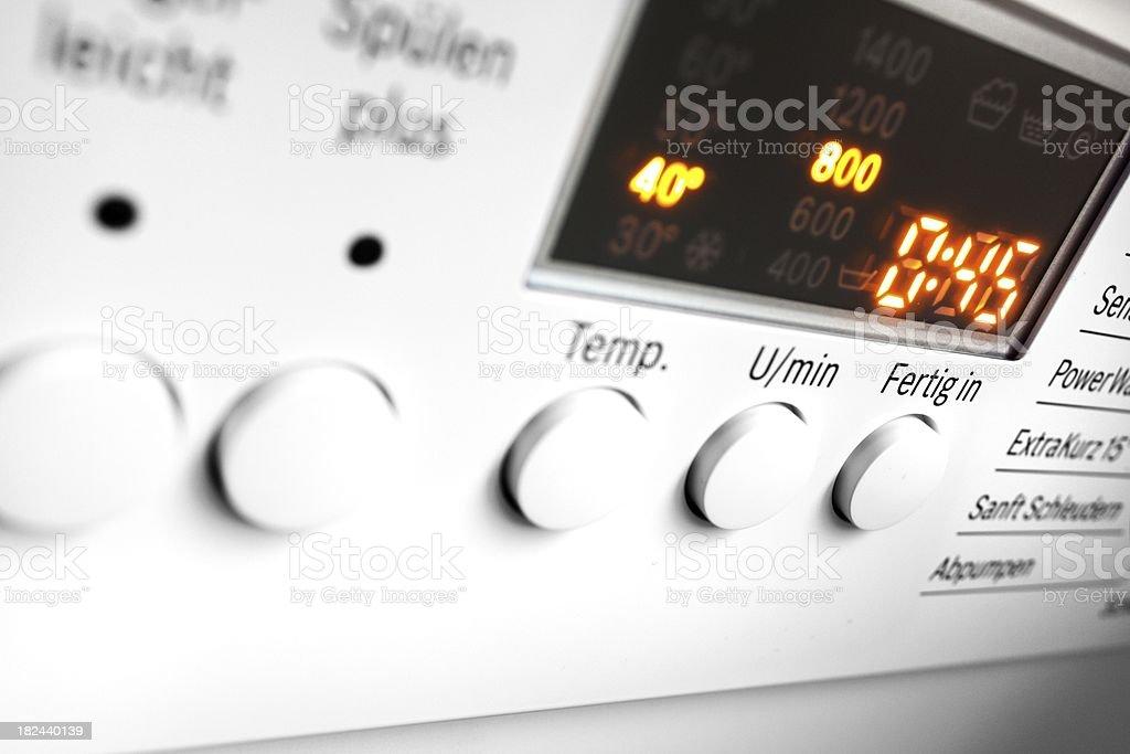 washing machine control panel royalty-free stock photo