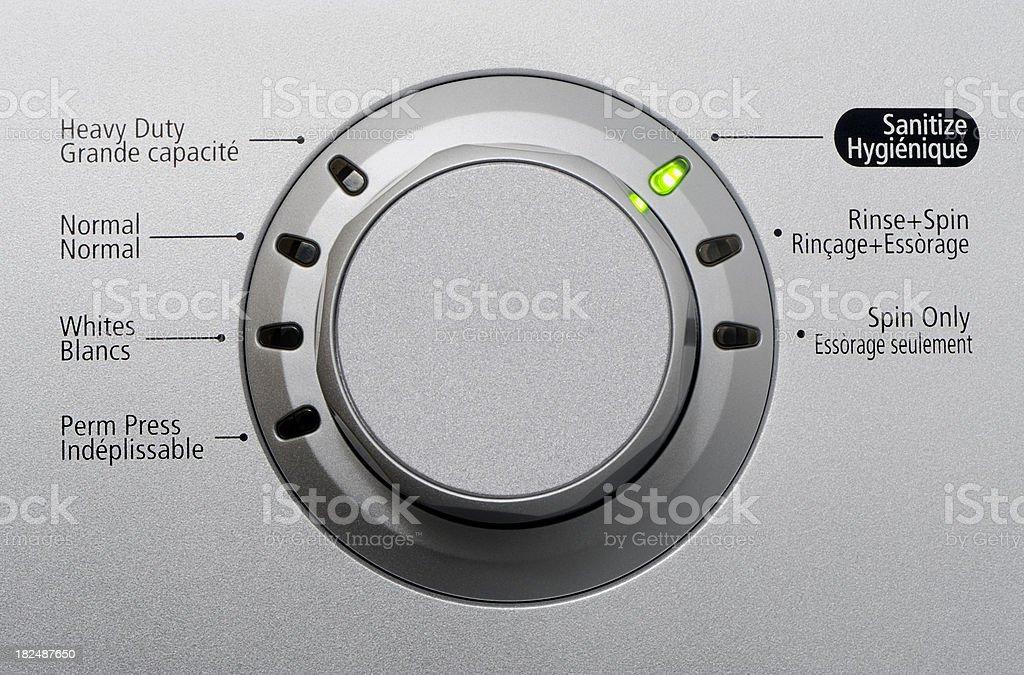 Washing machine control stock photo
