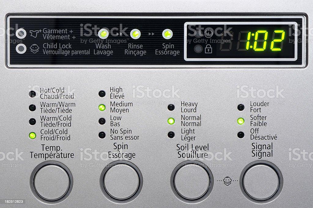 Washing machine controls royalty-free stock photo