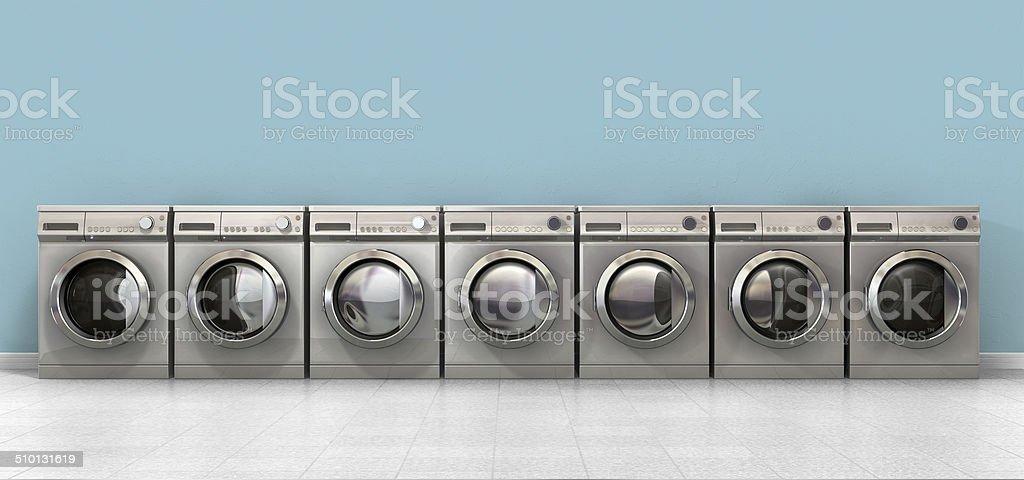 Washing Machine Empty Row stock photo