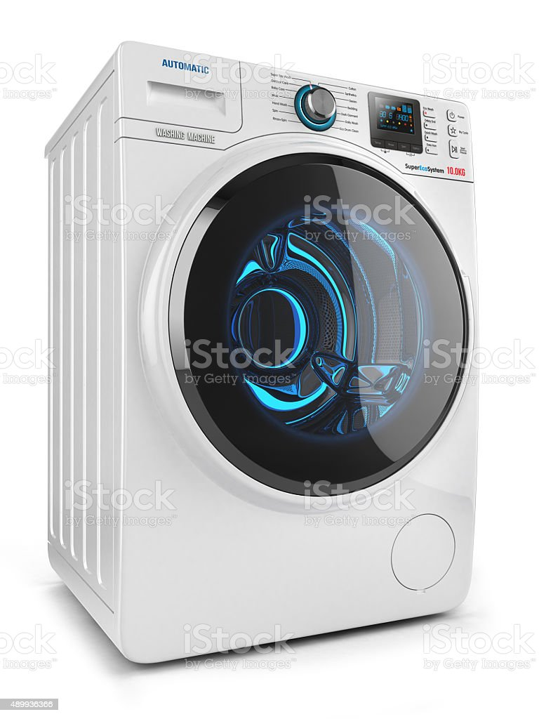 Washing machine isolated stock photo