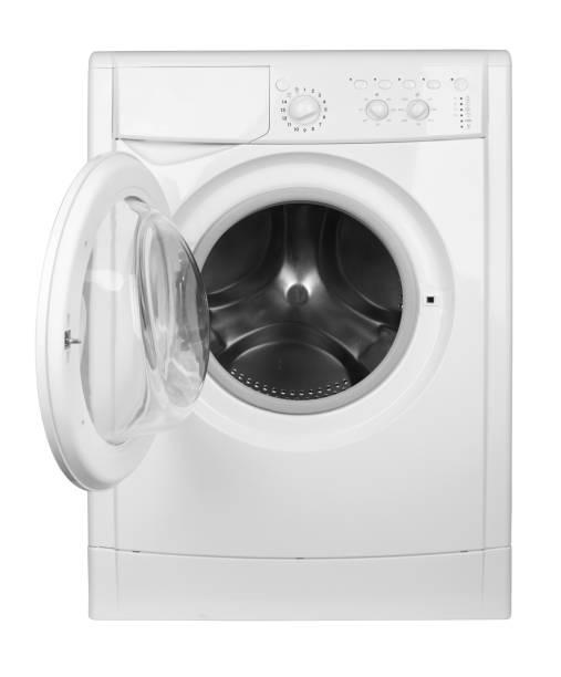 waschmaschine isoliert - waschmaschine fotos stock-fotos und bilder
