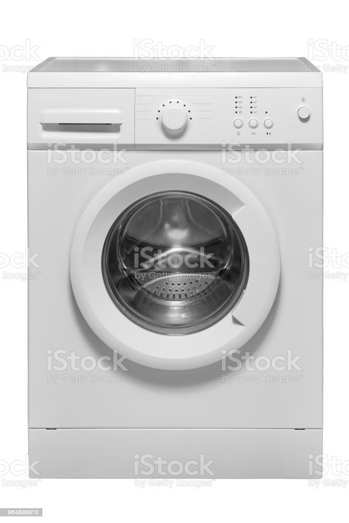 Washing machine on a white background royalty-free stock photo