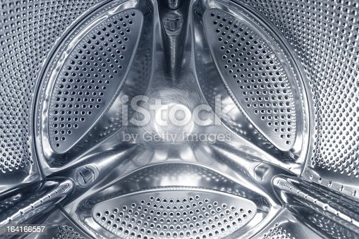 Abstract view of washing machine drum.