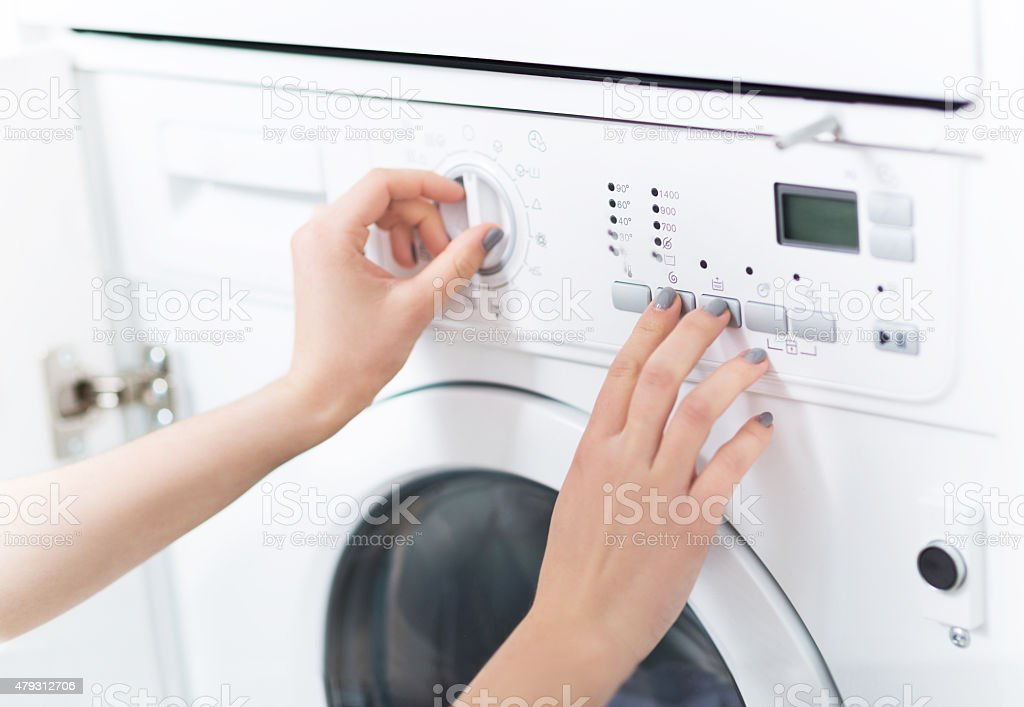 Washing Machine stock photo