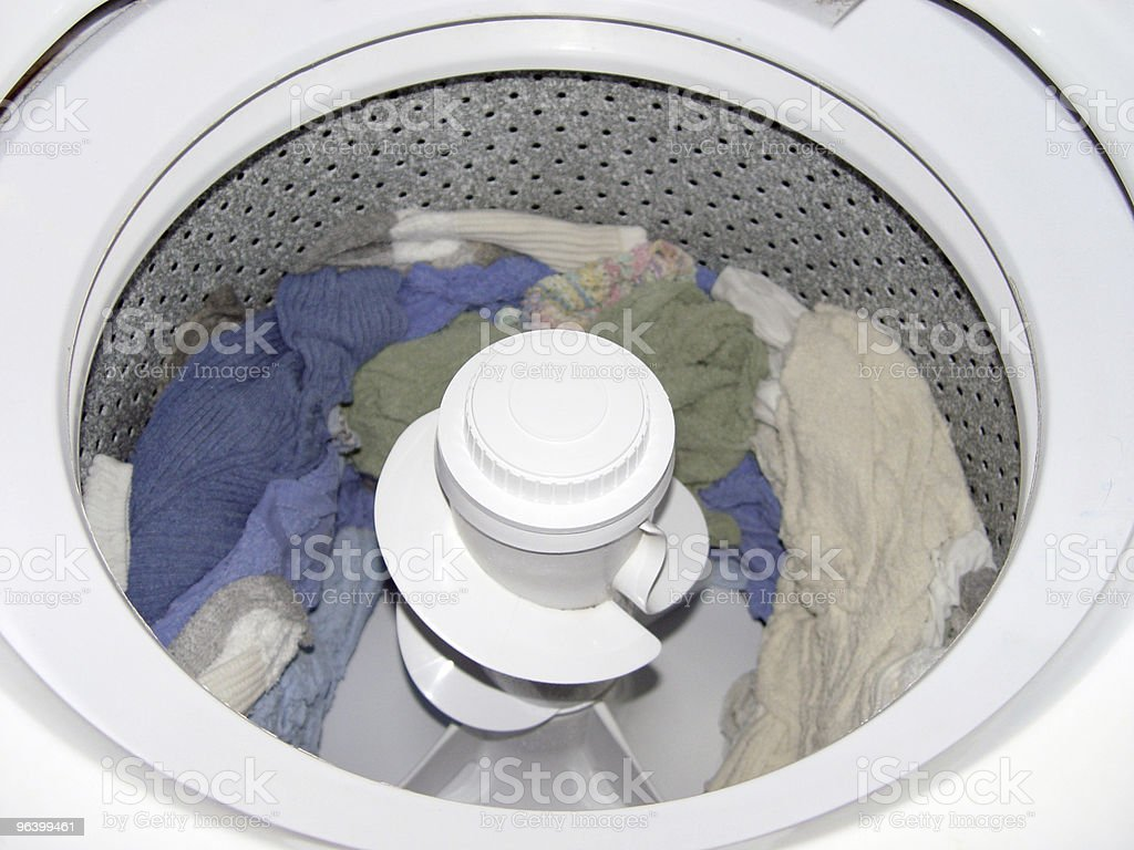 Washing Machine With Clothes - Royalty-free Accessibility Stock Photo