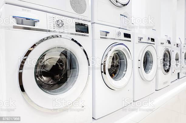 Washing mashines in appliance store picture id579217956?b=1&k=6&m=579217956&s=612x612&h=i8fa7cc7ouo0caln1deyg4iltkgfkgxvzkyg6bv0 ji=