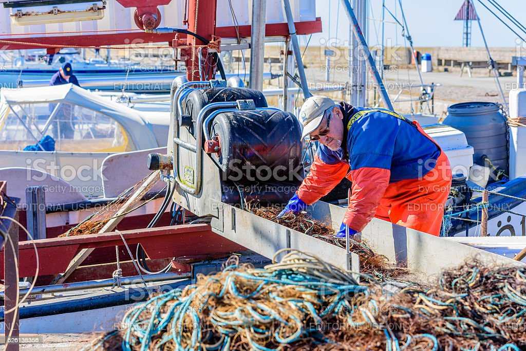 Washing nets stock photo