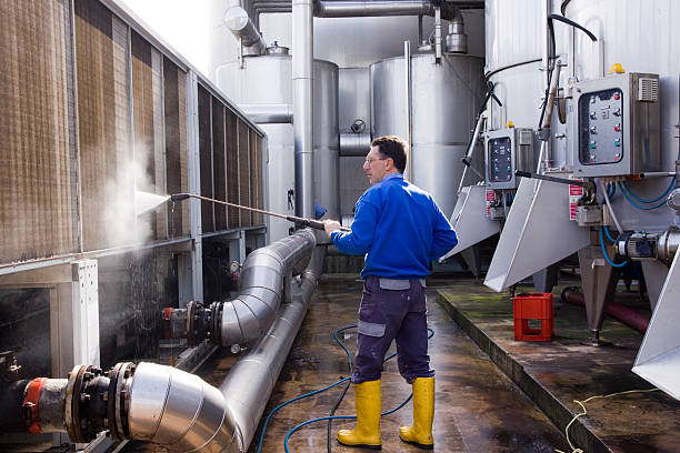 washing - high pressure cleaning stock photos and pictures