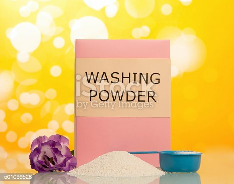 istock Washing powder and Cleaning item 501099528