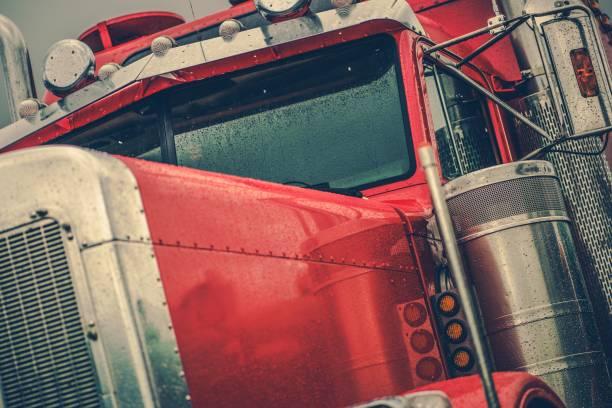 Washing Semi Truck stock photo