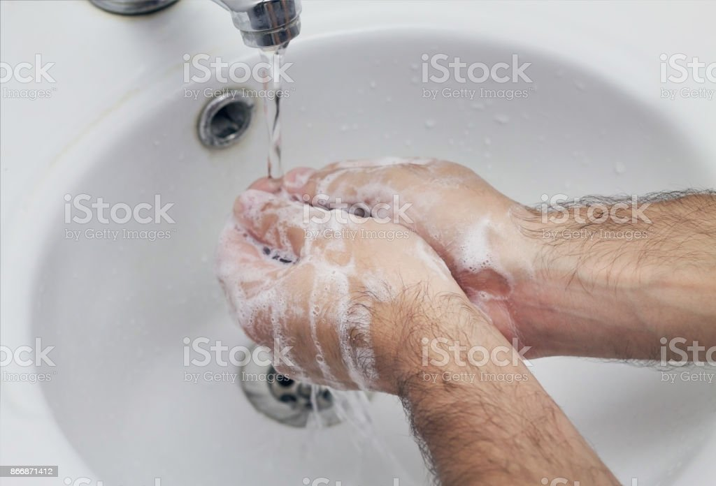 Washing the hands. stock photo