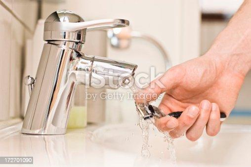 istock Washing the Razor 172701090