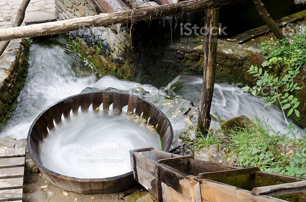 Washing  with water in the Etar, Gabrovo, Bulgaria stock photo