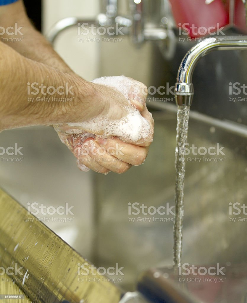 Washing your hands stock photo