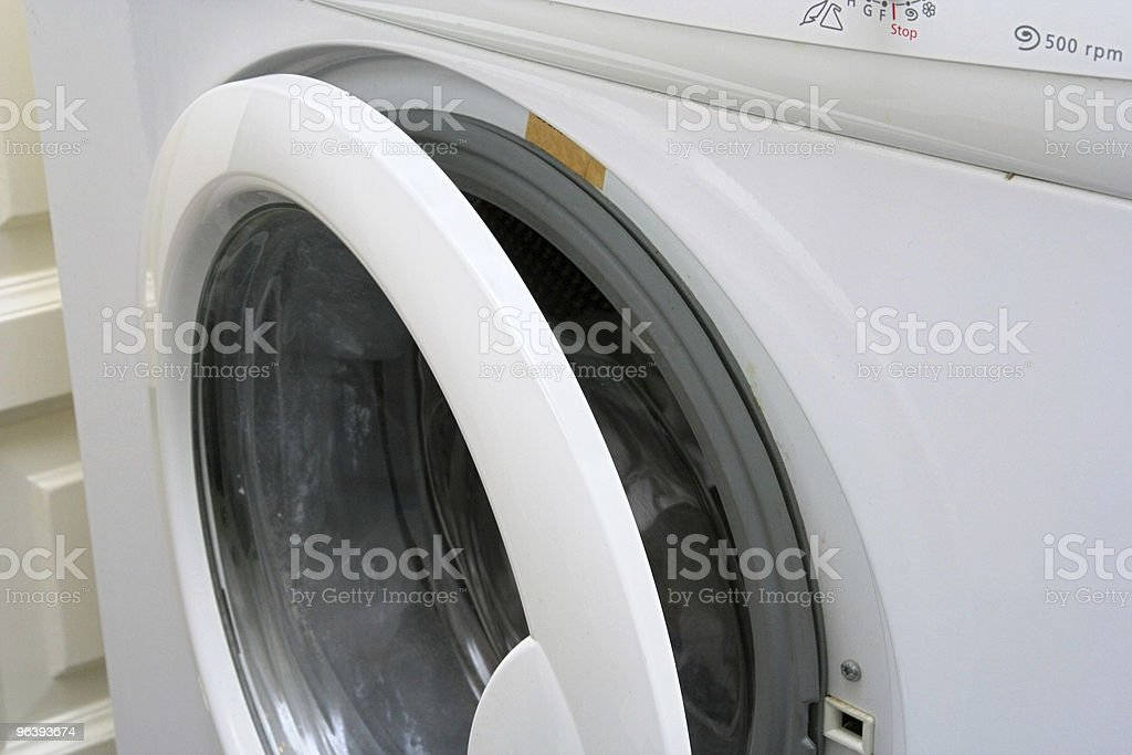 Washing-Machine Partial View - Royalty-free Cleaning Stock Photo