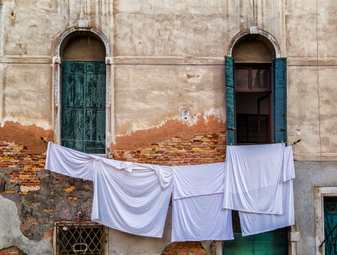 Washings Drying in Venice
